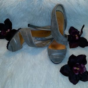 L.A.M.B gray heels